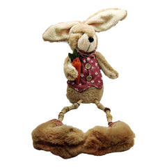 Enchante Cuddles Bunny Sitting with Wooden Hanging Legs