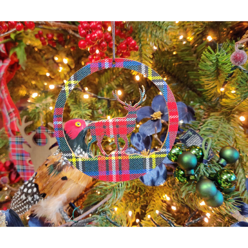 Tartan Reindeer Decoration