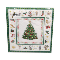 Ambiente Christmas Evergreen White Lunch Napkins