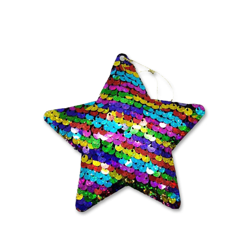 Christmas Multi-Coloured Sequin Hanging Star