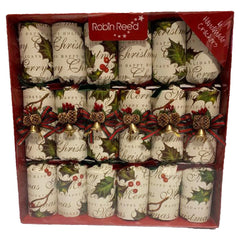 Robin Reed Holly Bells Crackers (6 pack)