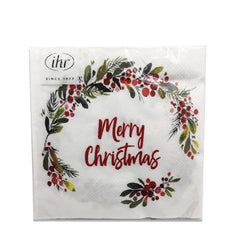 ihr Hannah Merry Christmas Lunch Napkins