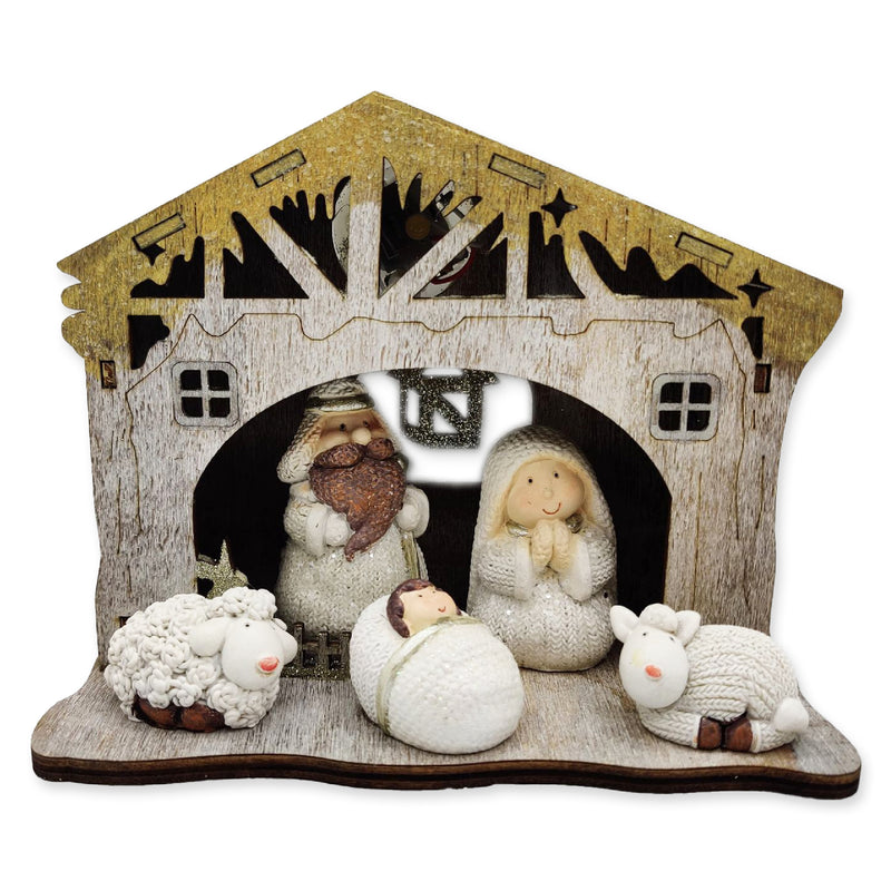 Christmas Nativity Set with LED Star