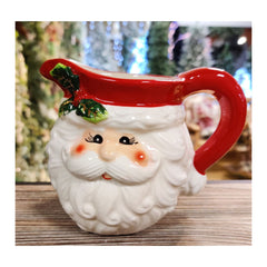 Santa Head Christmas Jug