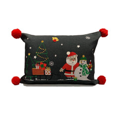 Santas Sledge Christmas Cushion