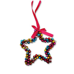 Colourful Star Decoration with Bells