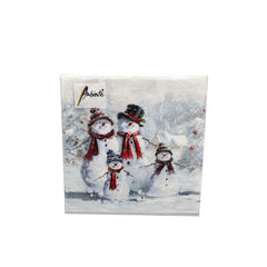 Ambiente Snowman With Hat Cocktail Napkins