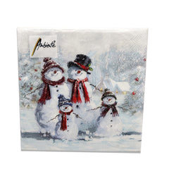 Ambiente Snowman With Hat Lunch Napkins