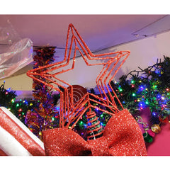 Red Star Christmas Tree Topper
