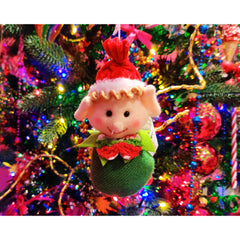 Christmas Elf Hanging Decoration Green