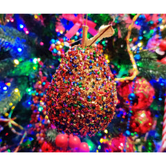 Christmas Multi-Coloured Hanging Pear