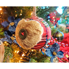 Tartan and Faux Fur Bauble