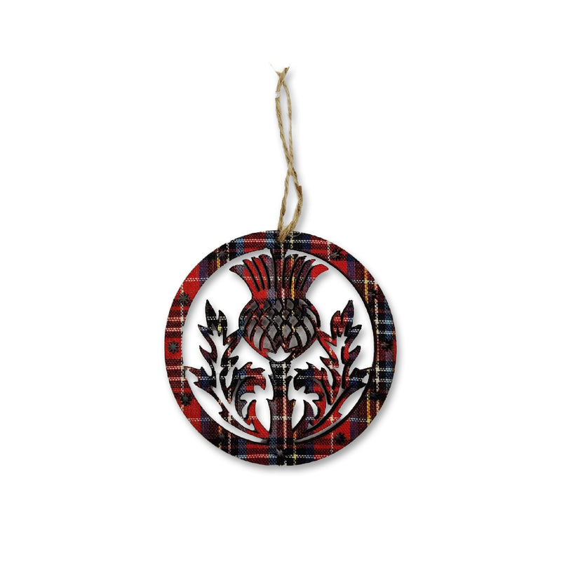 Tartan Thistle Crest Decoration