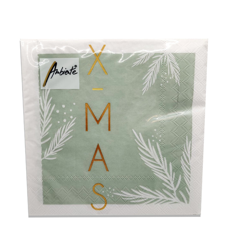 Ambiente X-Mas Green Lunch Napkins
