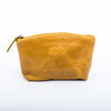 Leather Cosmetic Bag: Crunch Yellow