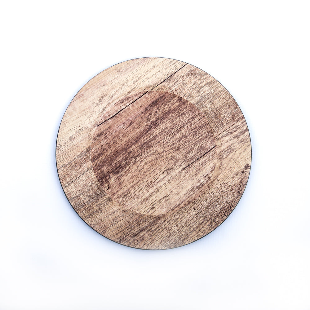 Faux Wood Underplate Set