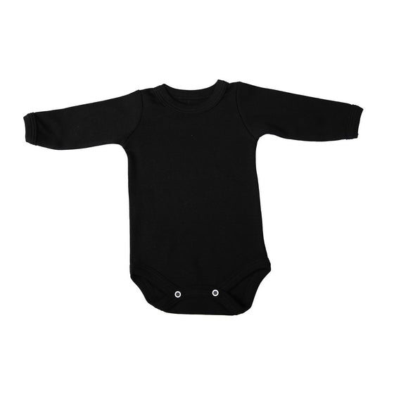 Crew Neck Onesie - Black