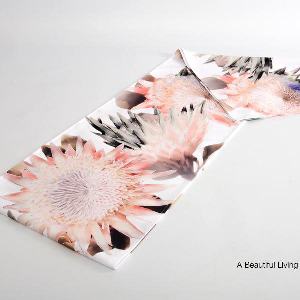 Protea Blush Runner: White