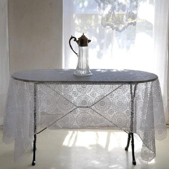 Vinyl Open Crochet Tablecloth