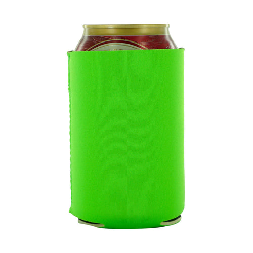 Green Blank koozies neoprene 12oz can