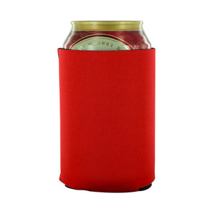 Red can koozies neoprene 12oz