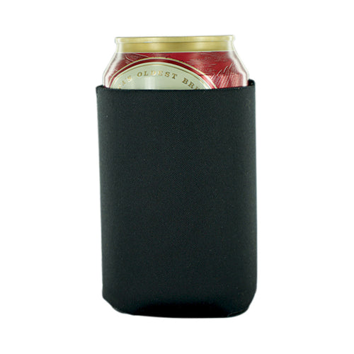 Black can koozies neoprene 12oz
