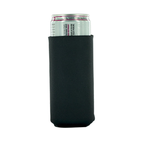Black Neoprene 12oz Slim Koozie blank