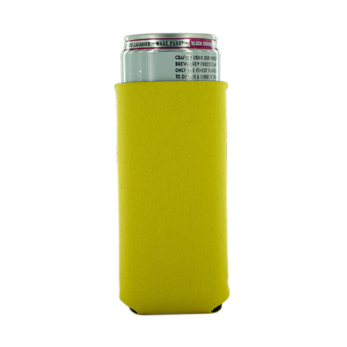 Yellow Neoprene 12oz Slim Koozie blank