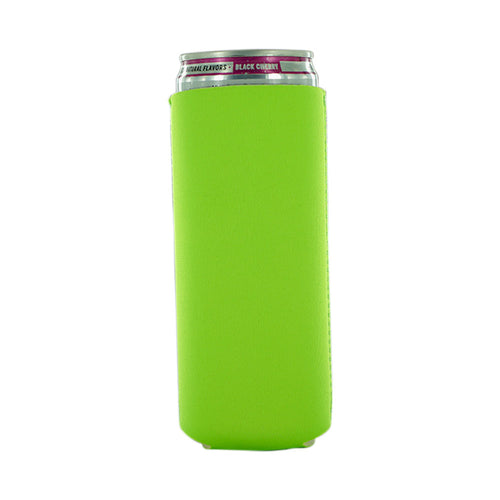 green Neoprene 12oz Tall Slim Koozie blank