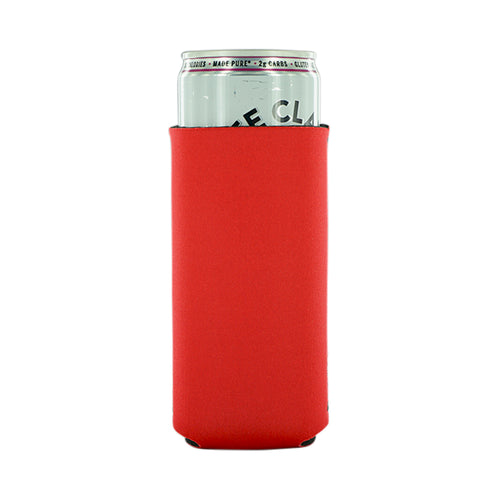Red Neoprene 12oz Slim Koozie blank