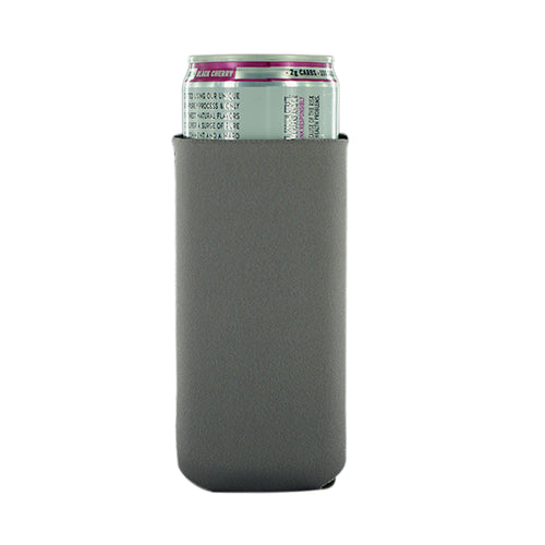Charcoal Neoprene 12oz Slim Koozie blank