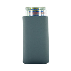 charcoal koozie blank 8oz Slim Can