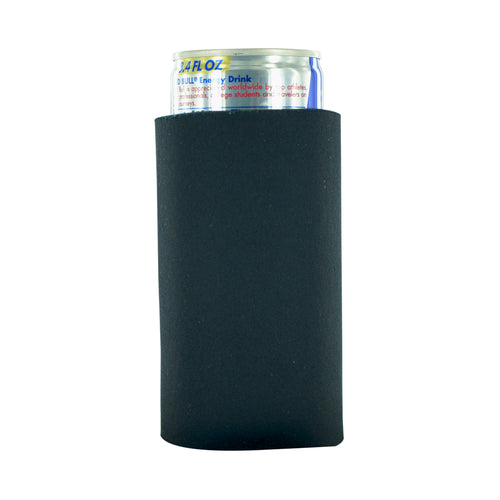 black koozie 8oz Slim Can blank