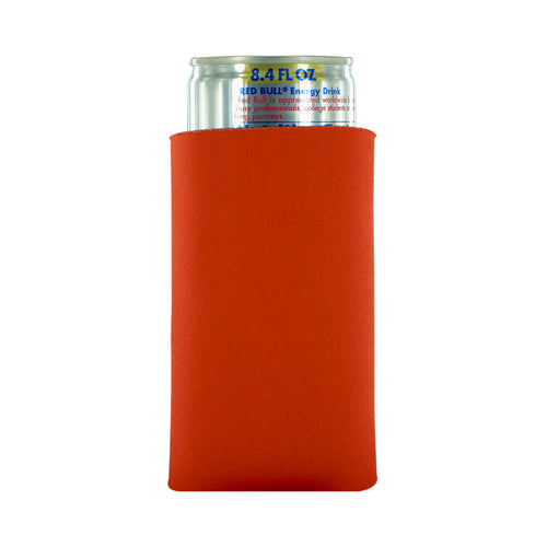 orange koozie 8oz Slim Can