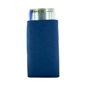 navy blank koozie 8oz Slim Can