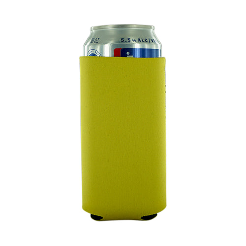 yellow koozie Neoprene 16oz Tall Can