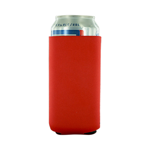 red Neoprene 16oz Tall Can koozie