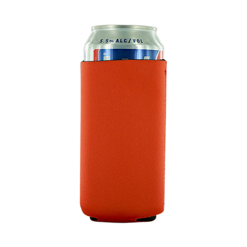 orange blank Neoprene  16oz Tall Can koozie