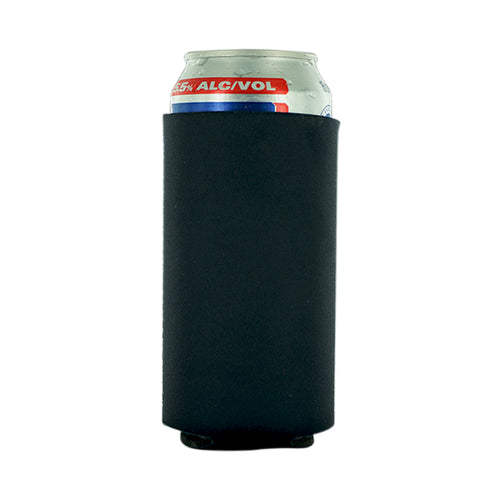 black koozie Neoprene 16oz Tall Can