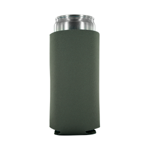 grey koozie 8oz Slim Can blank
