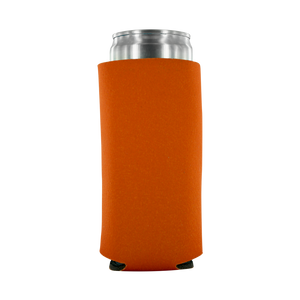 orange koozie 8oz Slim Can blank