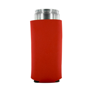 red koozie 8oz Slim Can blank