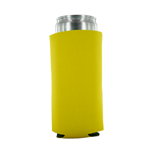 yellow 12oz Tall Slim Can foam plain