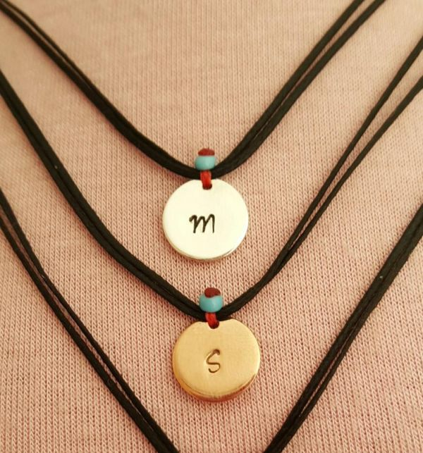 Initial On Cord Necklace