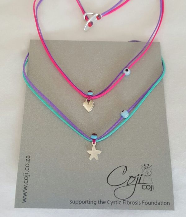Double Coloured Kids Charm Necklace