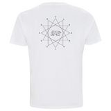 GEOMETRIC WHITE T - GENDER NEUTRAL