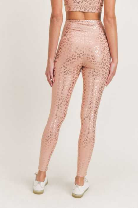 LEOPARD SHIMMER FOIL HIGHWAIST LEGGINGS