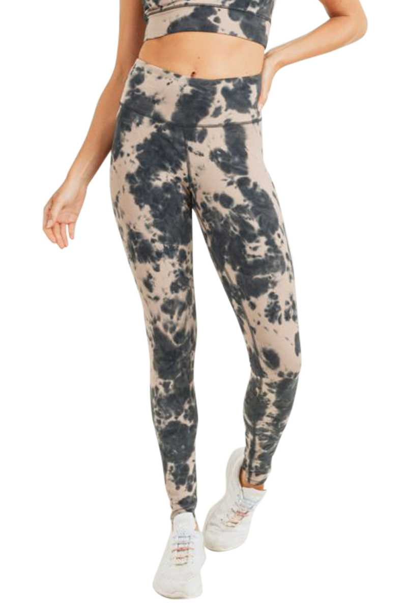 TIE DYE COTTON HIGHWAIST LEGGINGS
