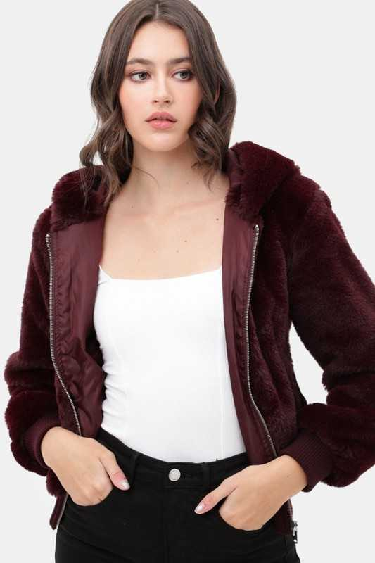 Super Soft Furry Hooded Jacket