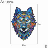 Wooden Jigsaw Puzzle Fox Puzzle Board Set Toy Interesting Wooden Puzzles For Adults Kids Christmas Gifts Educational Games Toys